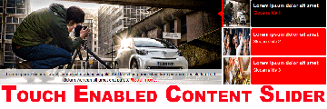 Free Joomla touch enabled content slider